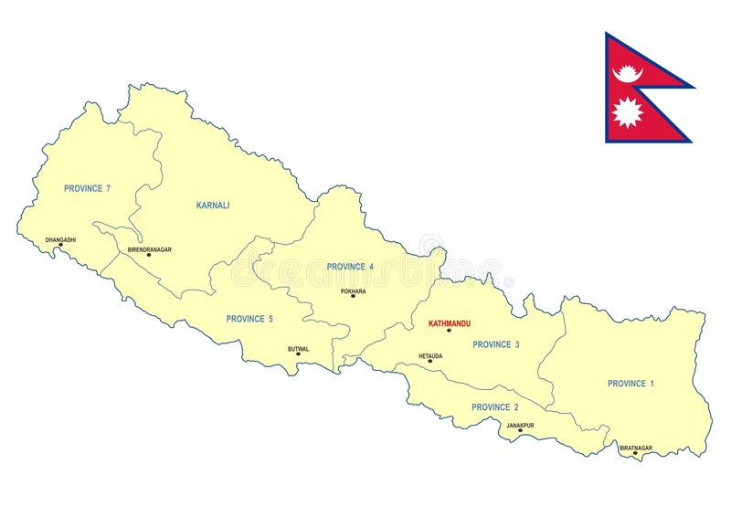 Nepal mapa obraz stock