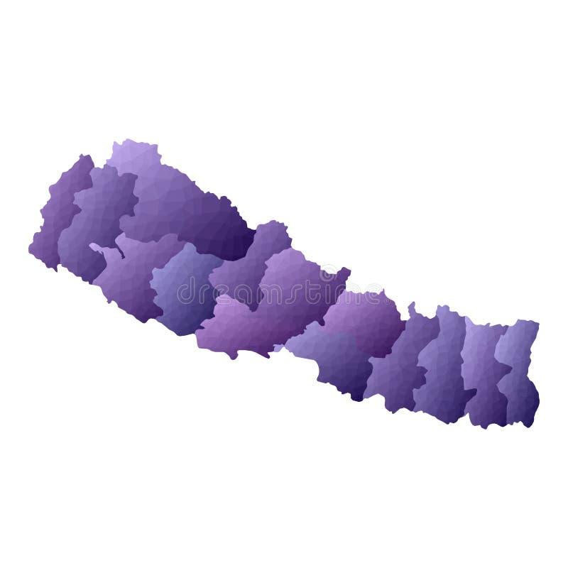 Nepal mapa ilustracji