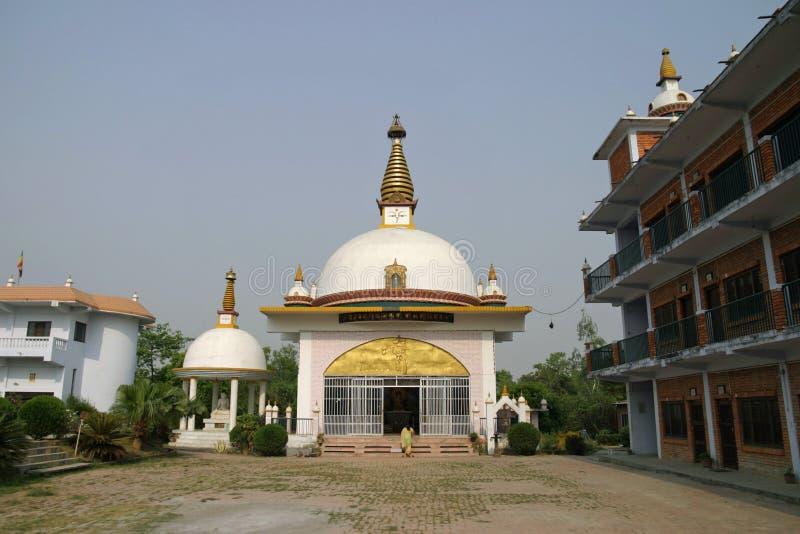 Nepal-Nonnenklostertempel in Lumbini lizenzfreie stockfotos