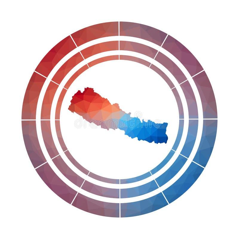 Nepal odznaka ilustracji