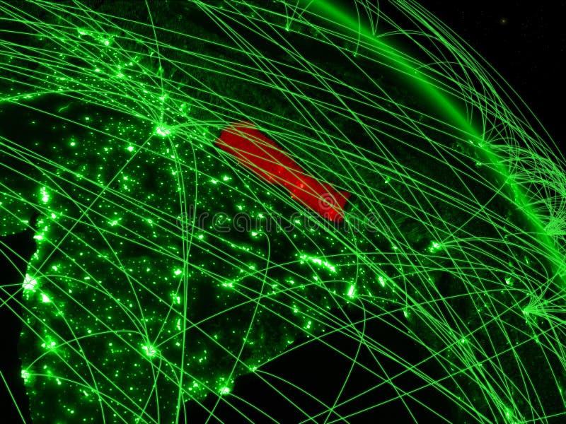 Nepal op groene bol stock illustratie