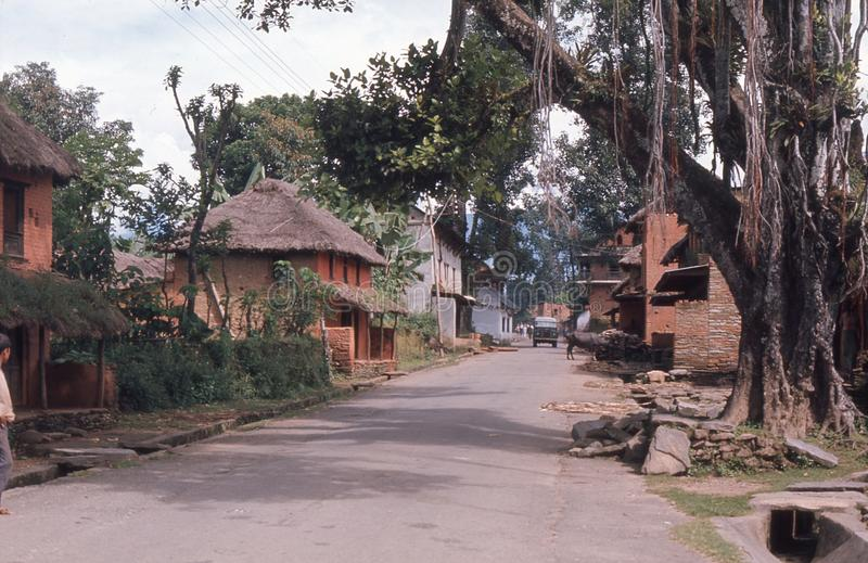 1975. Nepal. Ouiet Street In Pokhara. Editorial Image