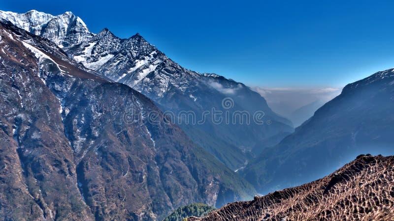 Nepal, passeio na montanha de Everest ao basecamp imagens de stock