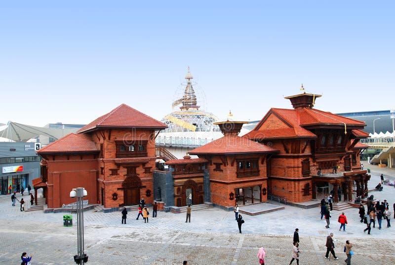 Nepal Pavilion Shanghai 2010 EXPO stock photos