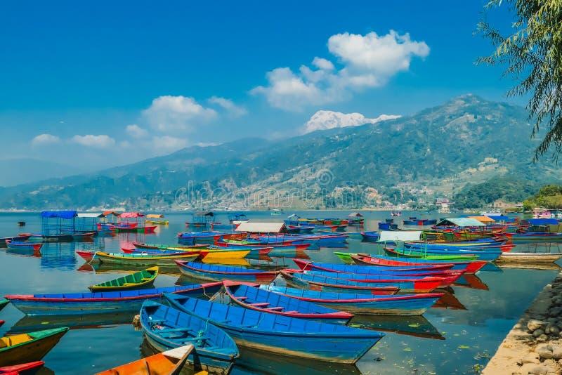 Nepal - Phewa See, Pokhara stockbild