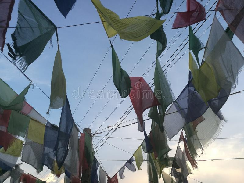 Nepal Prayer Flag collection royalty free stock photo