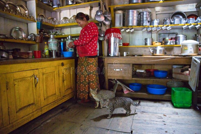 Nepal restauraci kuchnia obraz stock