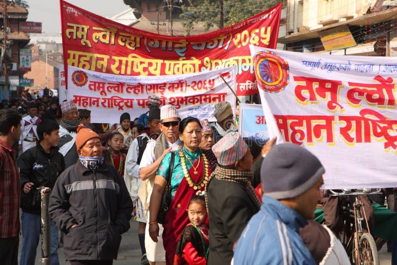 nepal rok nowy tradycyjny obraz stock