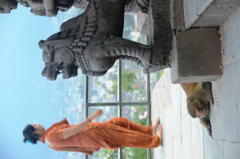 nepal swayambhunath świątynia obraz royalty free