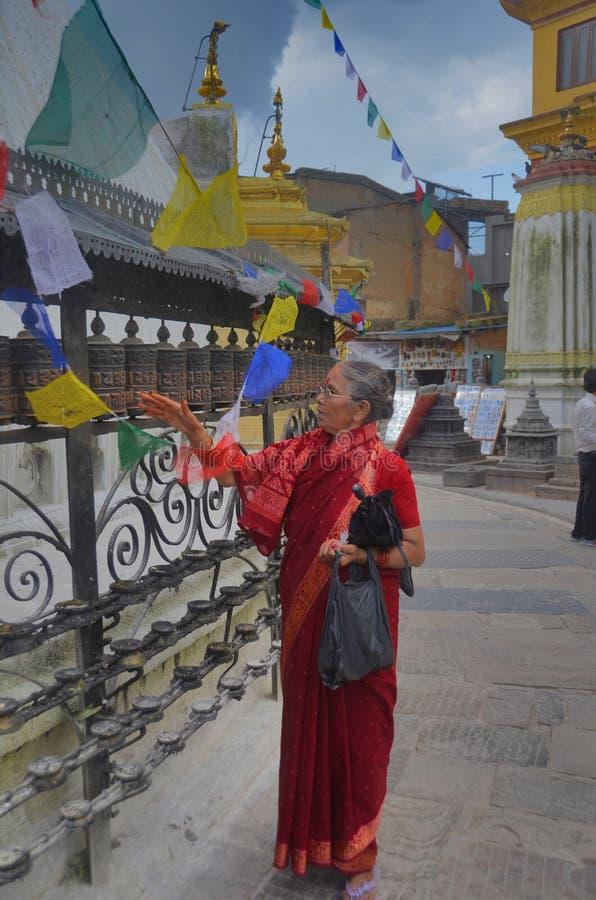 nepal swayambhunath świątynia obrazy royalty free