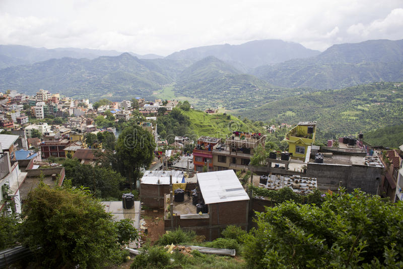 Nepal Tansen stad arkivbilder