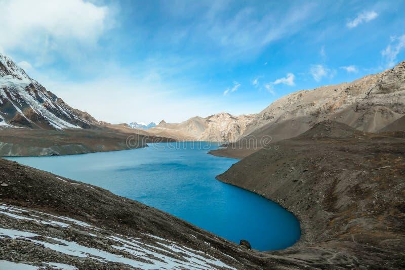 Nepal - Tilicho See stockbilder