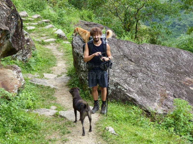 Nepal trekking stock photo