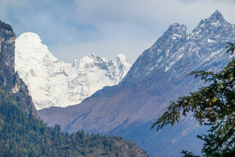 Nepal - View on Manaslu from Annapurna Circuit Trek, Himalayas, Nepal stock image