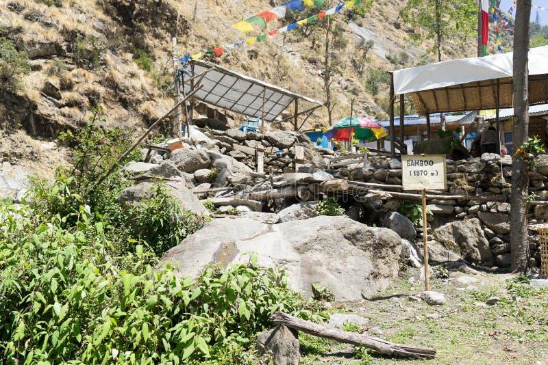 Nepal wioska w górach fotografia royalty free