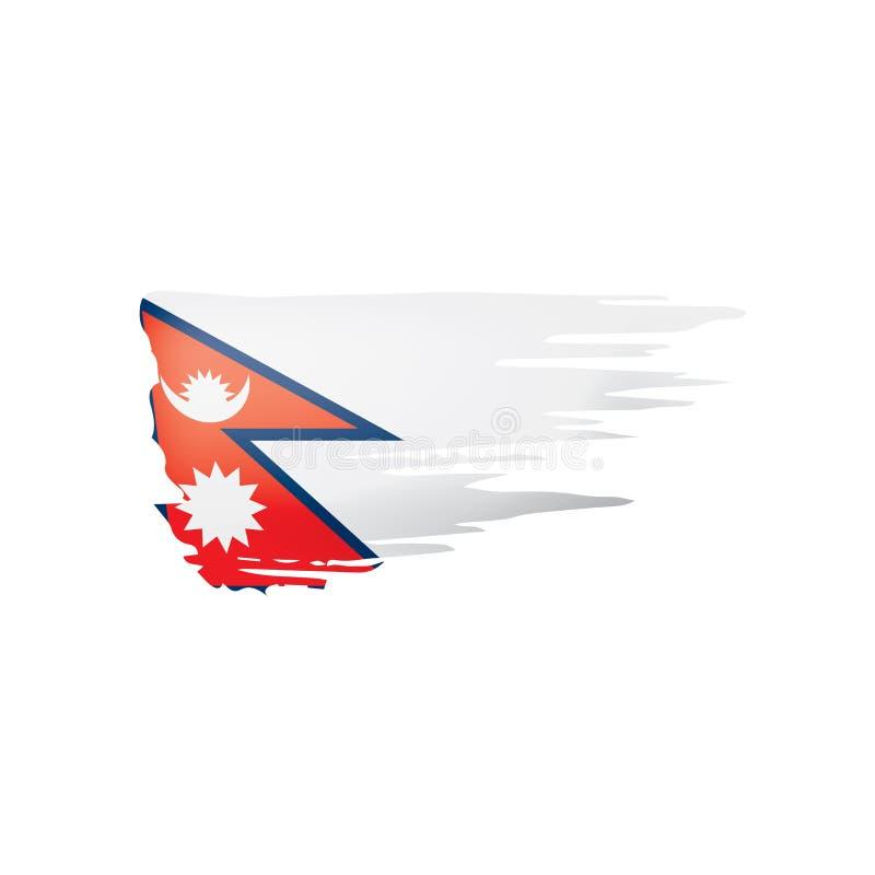 Nepal zaznacza, wektorowa ilustracja na białym tle royalty ilustracja