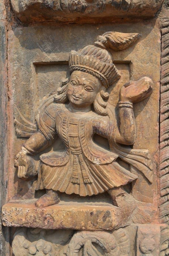 Nepalees fragment van Steen het snijden bij het Vierkant van Katmandu Durbar, Nepal stock afbeeldingen