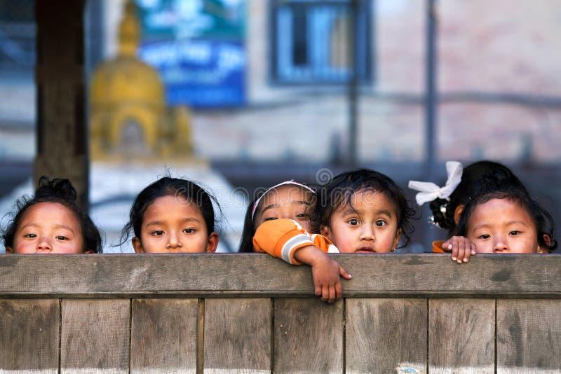 nepalese barn royaltyfri foto