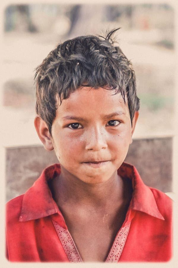 Nepalese boy portrait stock photo