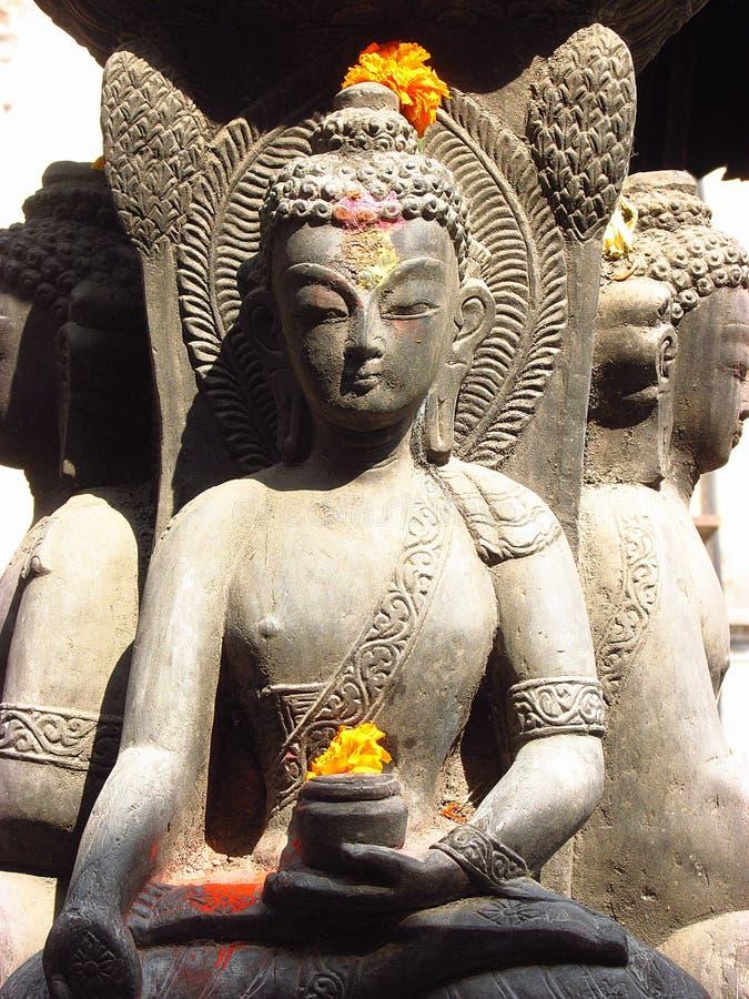 Nepalese Buddha stockfotos