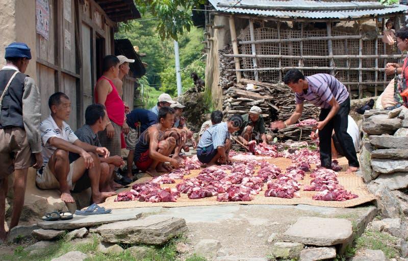 Nepalese der Ausschnittyak- oder -büffelfleisch stockfotografie