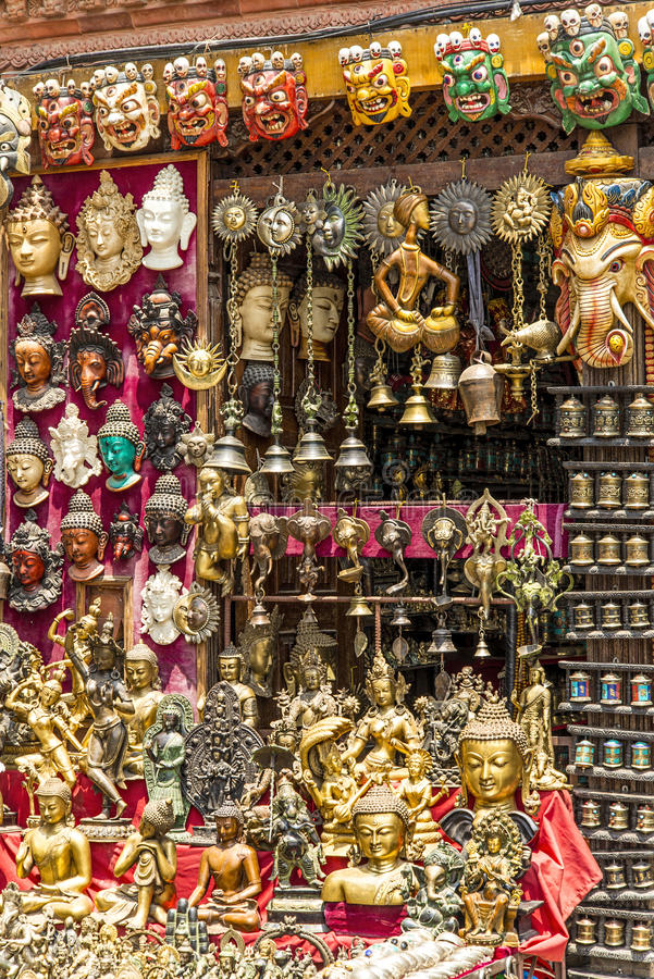 Free Nepalese Giftshop Stock Photo - 41210790