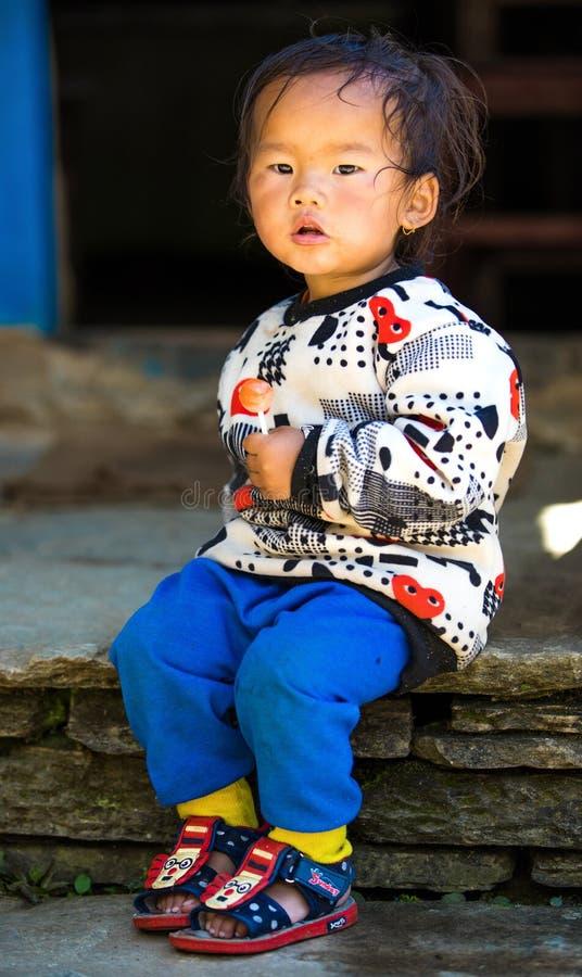 Nepalese girl royalty free stock image