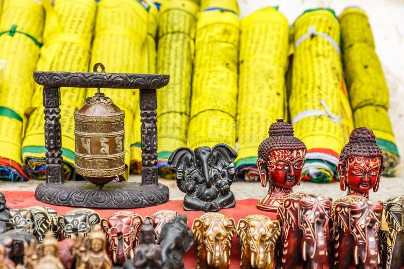Nepalese herinneringswinkel royalty-vrije stock afbeeldingen