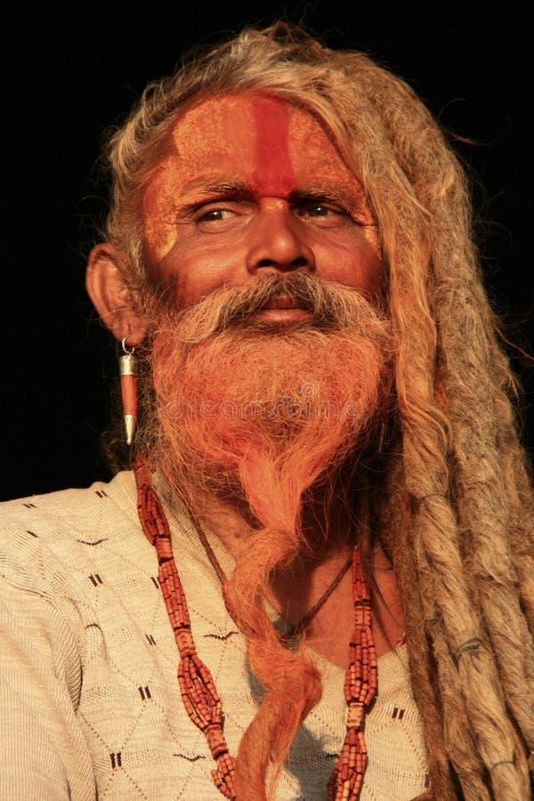 Nepalese holy man. Nepalese Hindu holy man, or Saddhu, in Kathmandu valley stock photo