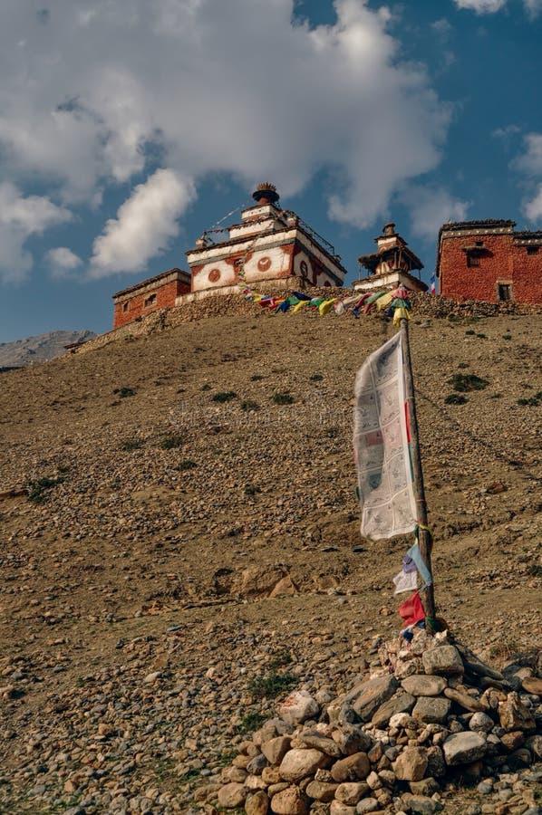 Nepalese old shrine royalty free stock photo