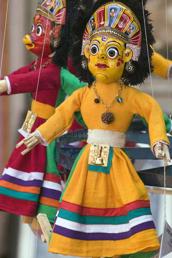 Nepalese puppet. Traditional Nepalese puppet at Bhaktapur stock image