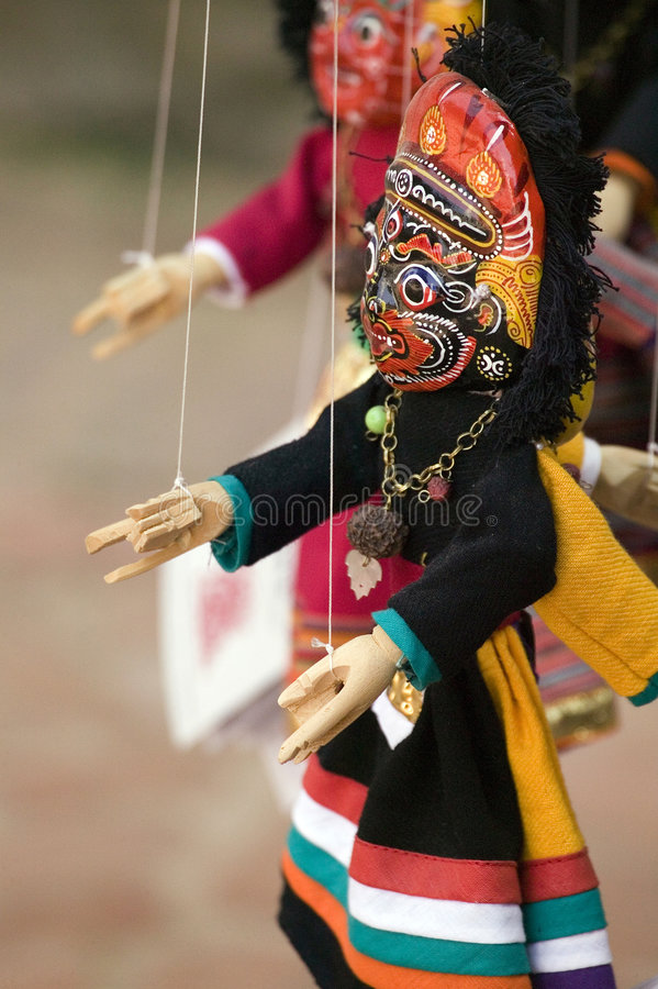 Nepalese puppet. Traditional Nepalese puppet at Bhaktapur stock photos