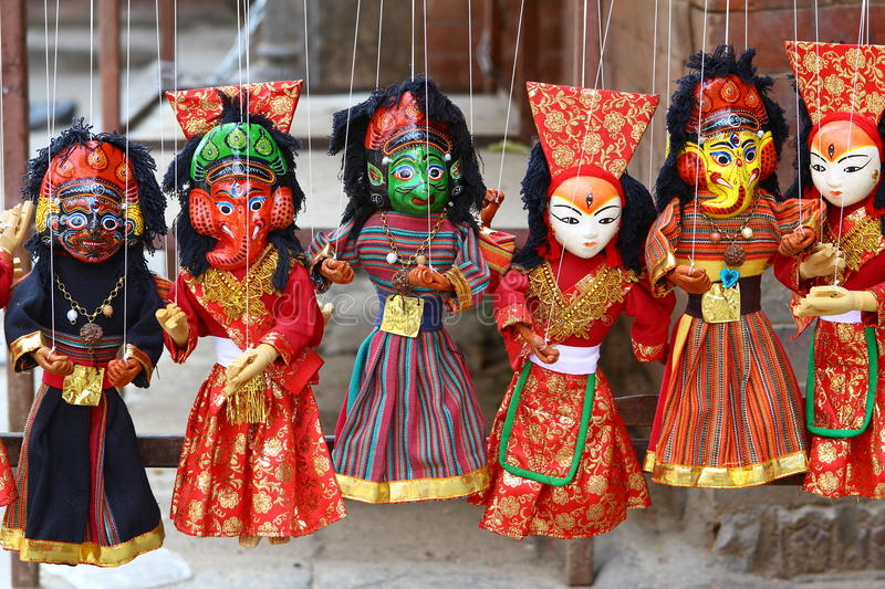 Download Nepalese puppets stock image. Image of nepal, string - 24504529