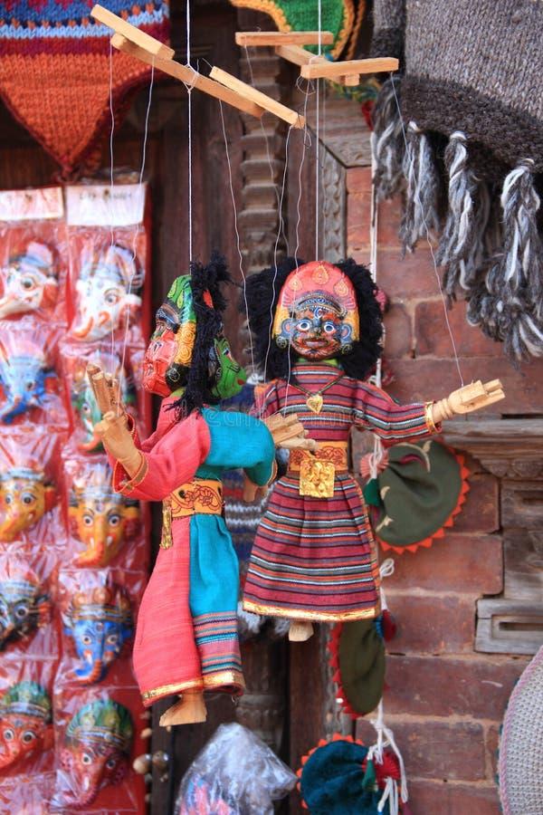 Nepalese puppets in Kathmandu royalty free stock image
