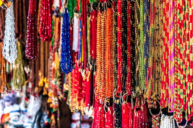 Nepalese souvenirs close-up. In Kathmandu stock image