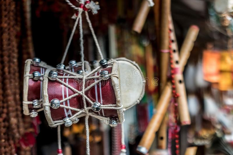 Nepalese souvenirs close-up. In Kathmandu royalty free stock image