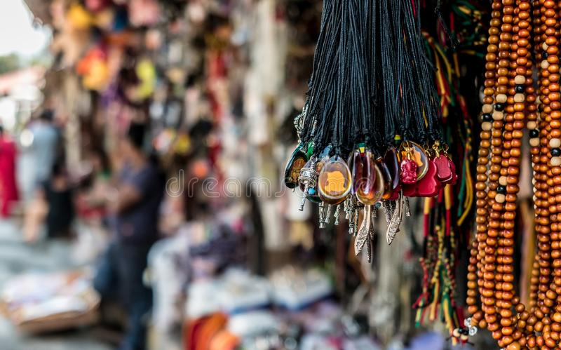 Nepalese souvenirs close-up. In Kathmandu stock images