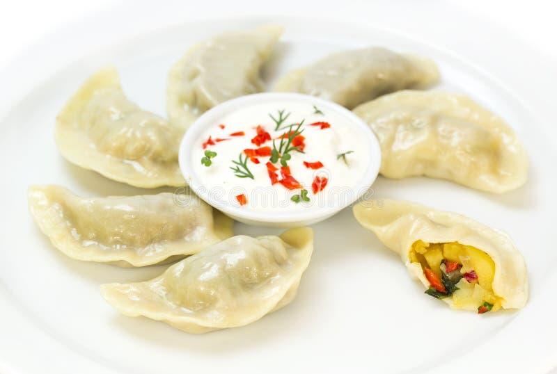 Nepalese voedselmomo royalty-vrije stock fotografie