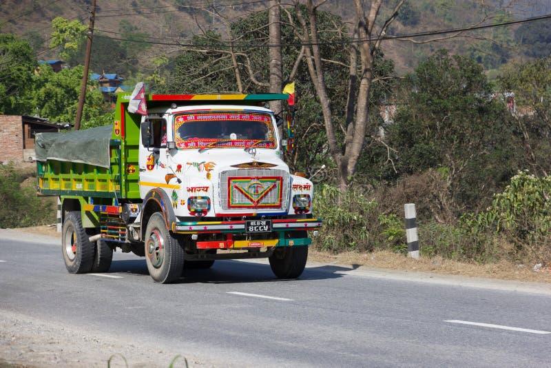 Nepalese Vrachtwagen royalty-vrije stock afbeeldingen