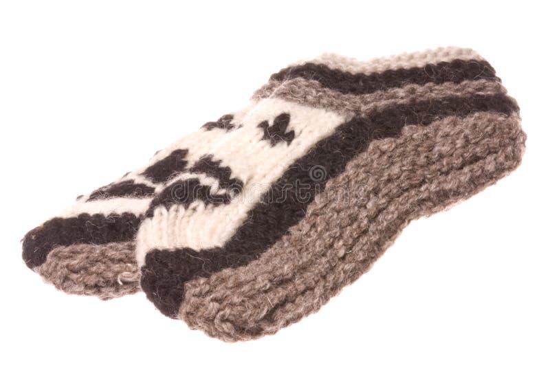 Nepalese Wollen Geïsoleerde Sokken stock foto
