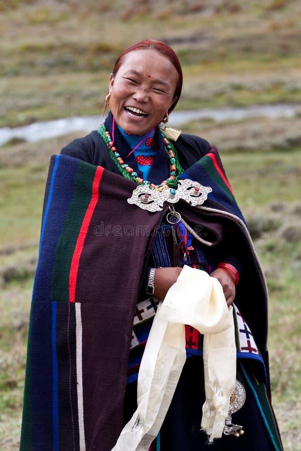 Nepalesische Frau stockfotos