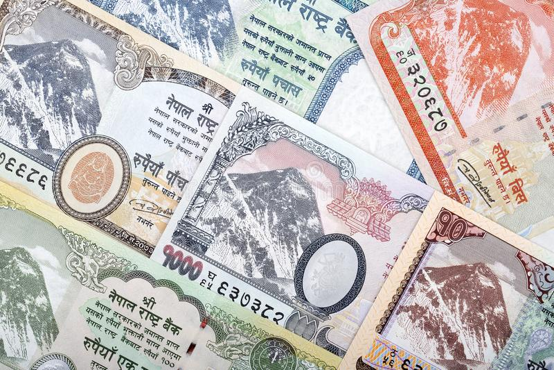 Nepalesische Rupie ein Hintergrund stockbild