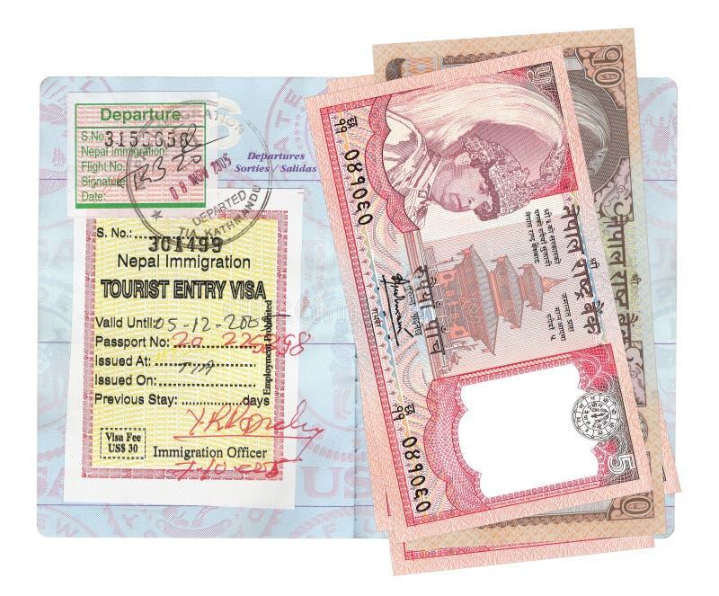 Nepalesische Rupien stockbild