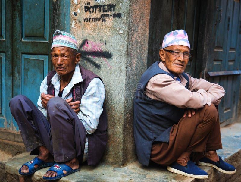 Nepali bemant stock afbeeldingen