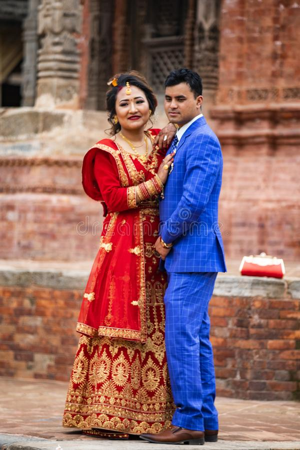 Nepali Bride and Groom stock photography