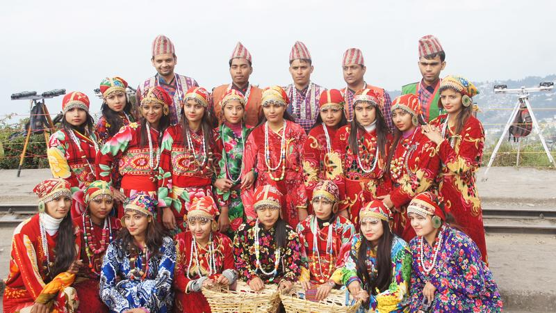 Nepali Dreashup σε Ilam στοκ φωτογραφίες με δικαίωμα ελεύθερης χρήσης