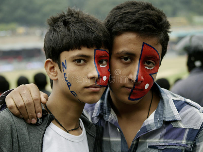Nepali Fans In Nepal Vs Hongkong Cricket Match Editorial Photo