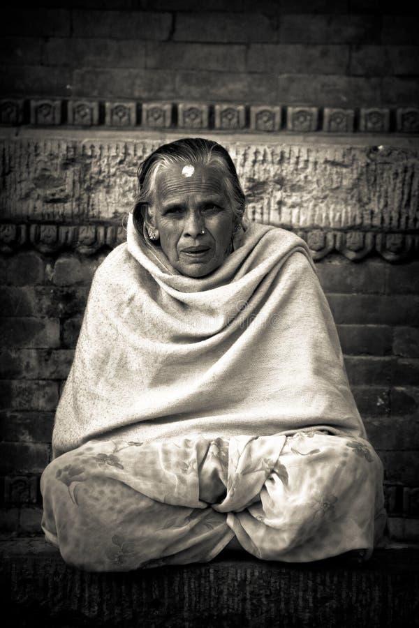 Nepalska kobieta, Durbar kwadrat, Kathmandu, Nepal zdjęcie royalty free
