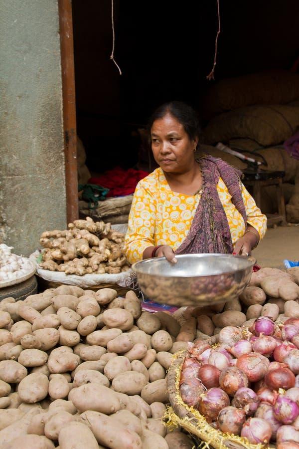 Nepalska kobieta Kathmandu, Nepal obraz stock