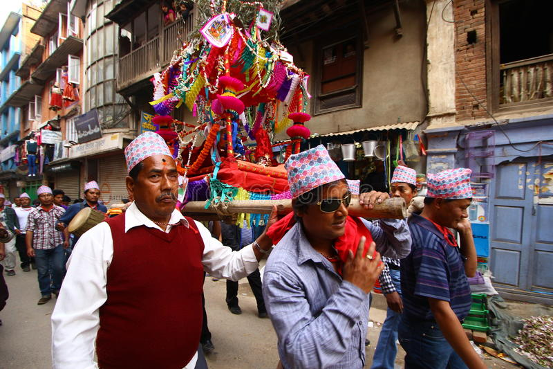 Nepalska odświętność baranu Nawa festiwal obrazy stock